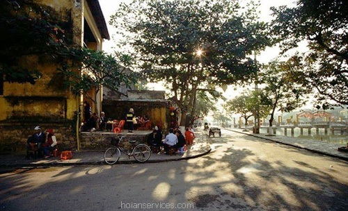 Coffee Street in Hoi An